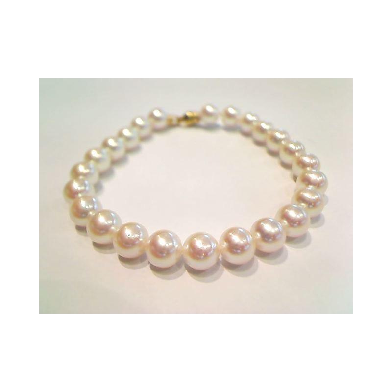 Bracelet Perles Akoya Japon 6,5-7,0mm Or jaune