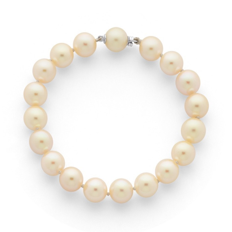 Bracelet Perles de culture Akoya Japon 9-9,5mm Or blanc
