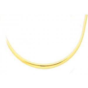 Collier mailles Omega chute 10 mm Or jaune