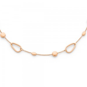 Collier mailles motifs Or rose