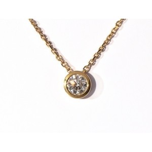 Pendentif Diamant 0,73 Carat G VS2  serti clos Or jaune