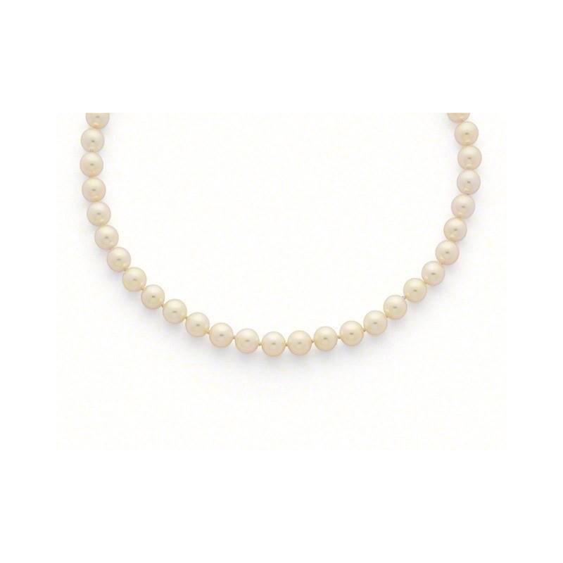 Collier Perles de culture Choker Akoya Japon 8,5-9 mm