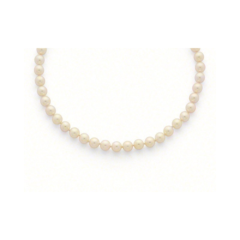 Collier Perles de culture Choker Akoya Japon 9,5-10 mm