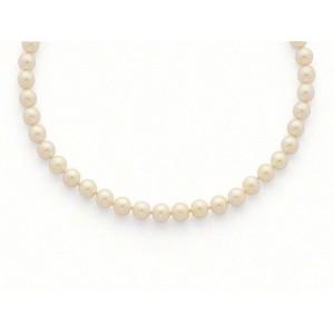 Collier Perles de culture Choker Akoya Japon 8 -8,5mm Or jaune
