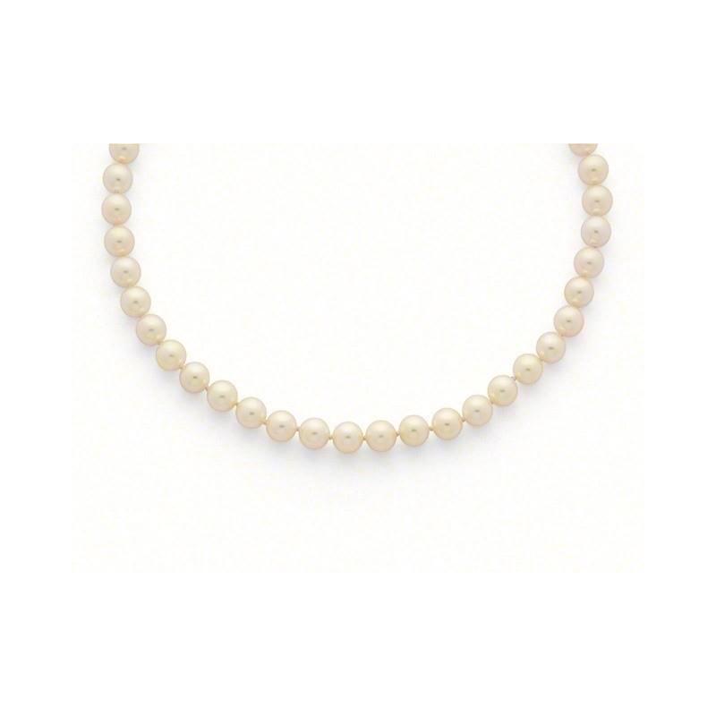 Collier Perles de culture Choker Akoya Japon 8,5-9 mm Or jaune