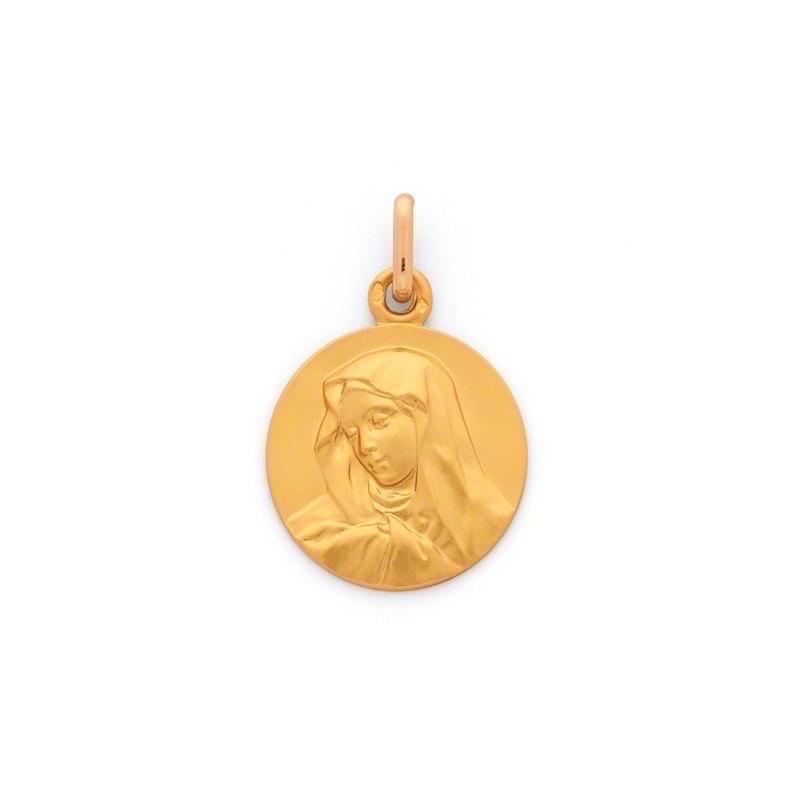 Médaille Vierge 18mm Or jaune