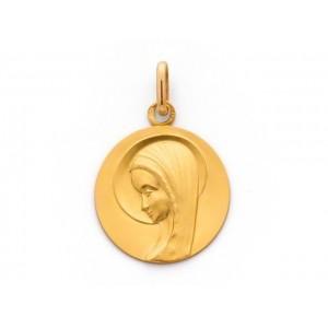 Médaille Vierge 18mm Or jaune-1