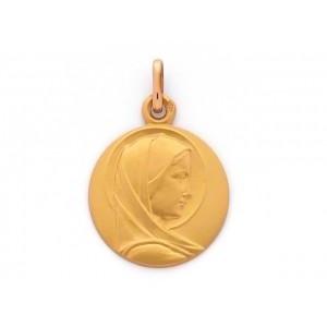 Médaille Vierge au voile ronde 20mm