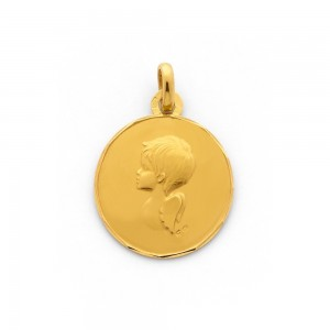 Médaille Ange 17mm Or jaune