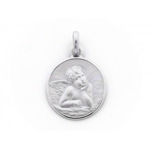 Médaille Ange de Raphaël 15mm Or blanc