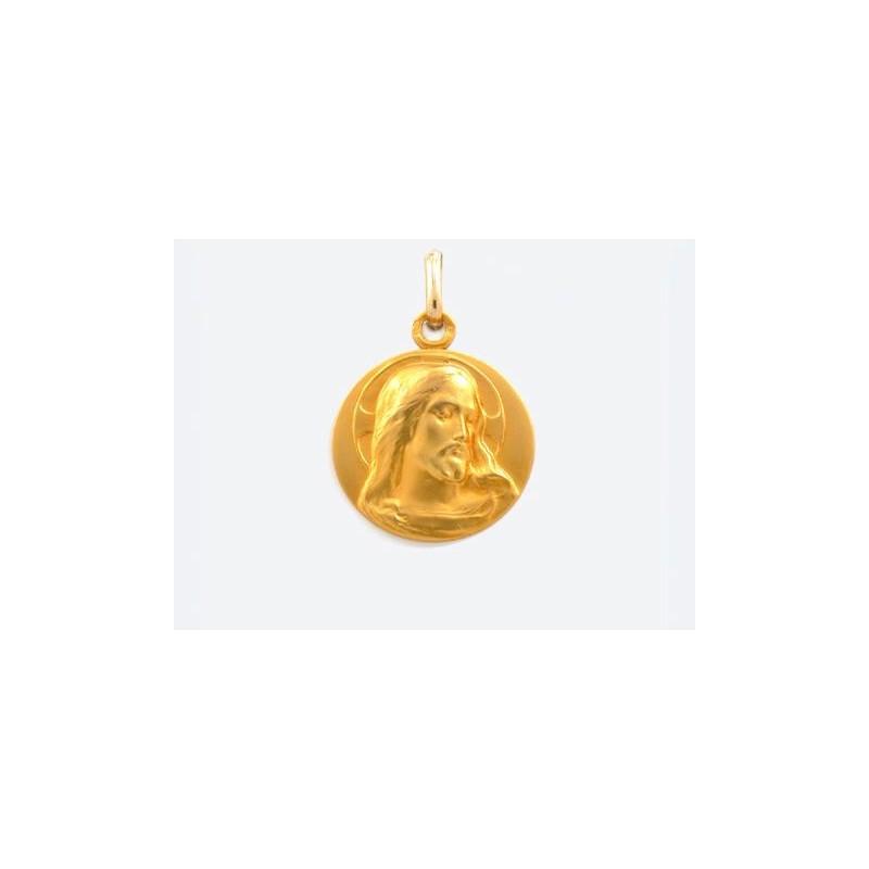 Médaille Christ 18mm Or jaune