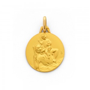 Médaille Saint Christophe 18mm Or jaune-1