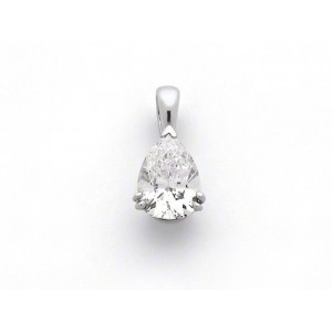 Pendentif Diamant 1,02 Carats G SI1 taille poire Or blanc