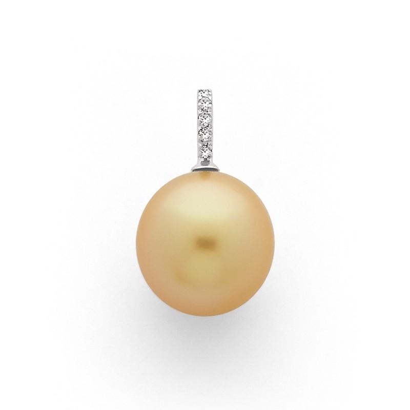 Pendentif Perle de culture d'Australie 12,2mm Diamants