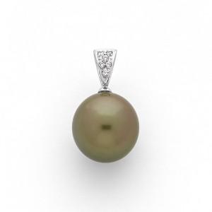Pendentif Perle de culture de Tahiti ronde 12,2mm