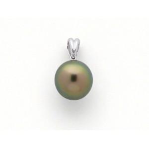 Pendentif Perle de culture de Tahiti 10,2mm poire Or blanc