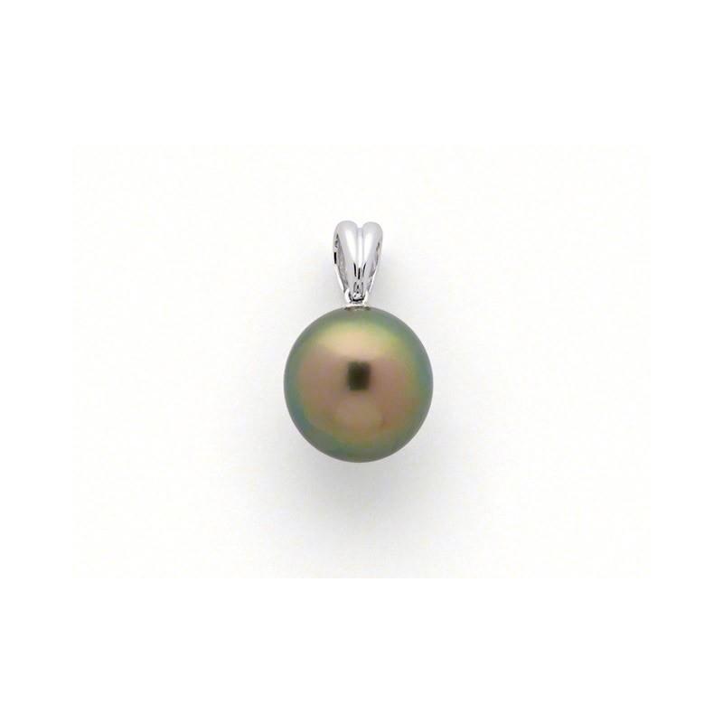 Pendentif Perle de culture de Tahiti 10,9mm poire Or blanc