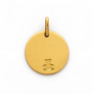 Pendentif jeton Ourson Or jaune