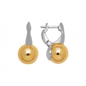 Boucles d'oreilles Or jaune et Or blanc