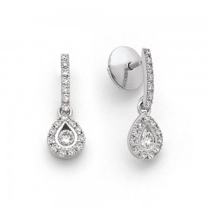 Boucles d'oreilles Diamants 0,60 Carat H SI Or blanc