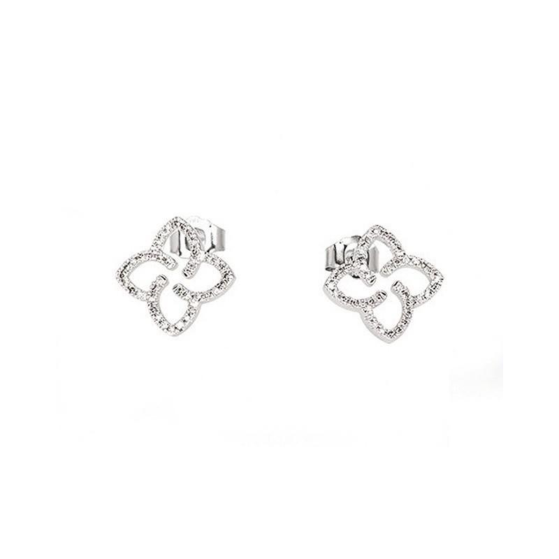 Boucles d'oreilles Diamants 0,16 Carat G P1 Or blanc