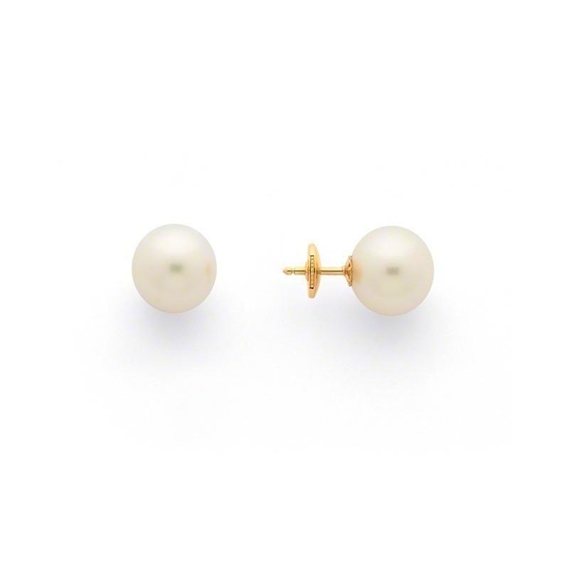 Boucles d'oreilles Perles de culture d'Australie 11,5mm ronde Or jaune