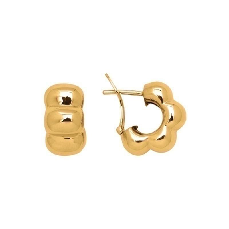 Boucles d'oreilles 1/2 créoles systèmes clips Or jaune