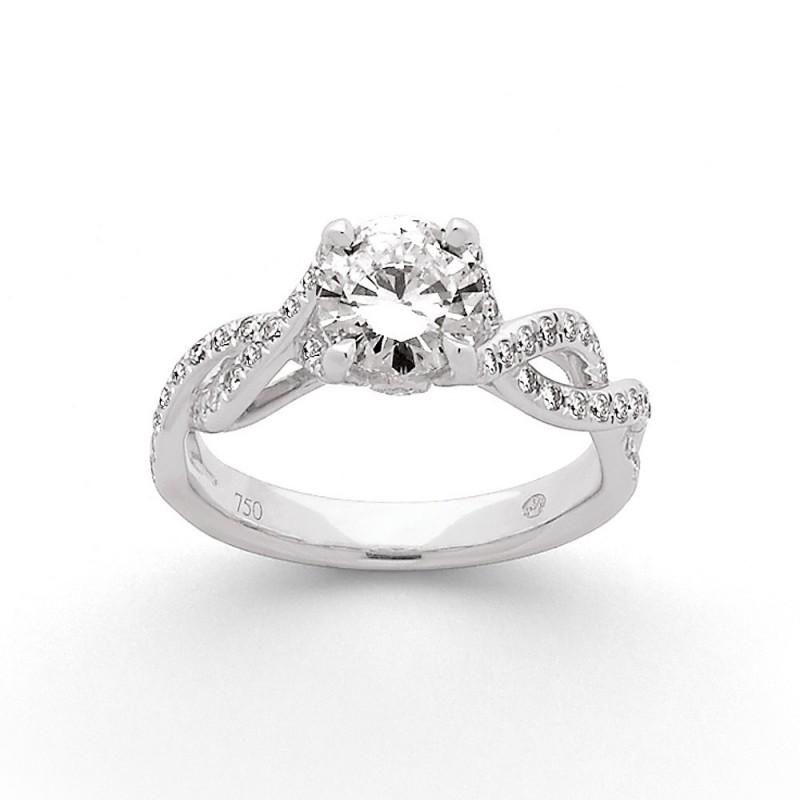 Solitaire Diamant 1,04 Carats G SI1 4 griffes accompagné 0,40 Carat Or blanc