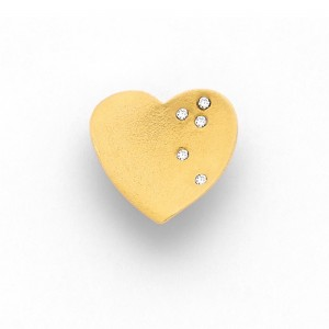 Pendentif Diamants 0,03 Carat G SI cœur Valentin Or rose