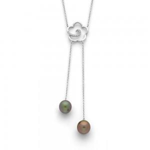 Pendentif Perle de culture de Tahiti  (2 perles)