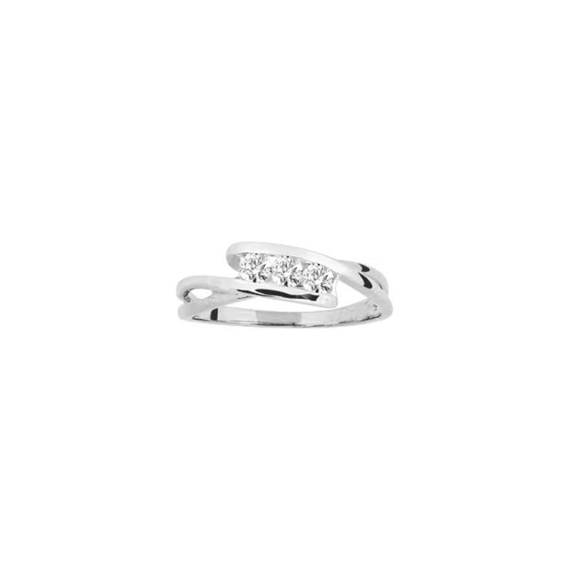 Bague Trilogie Diamants 0,18 Carat G SI Or blanc