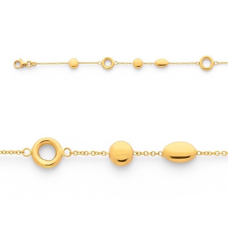 Bracelet maille Forçat motifs Or jaune