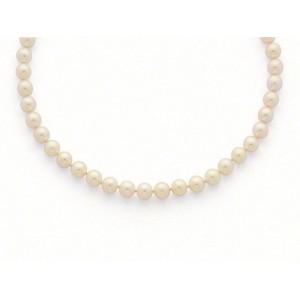 Collier Perles de culture Choker Akoya Japon Blanc-rosé 9-9,5mm