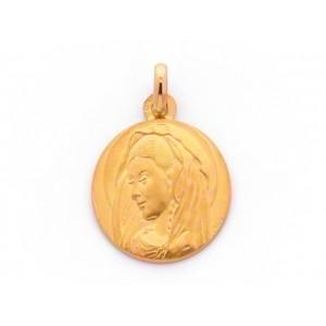 Médaille Vierge Bizanthine 17mm Or jaune