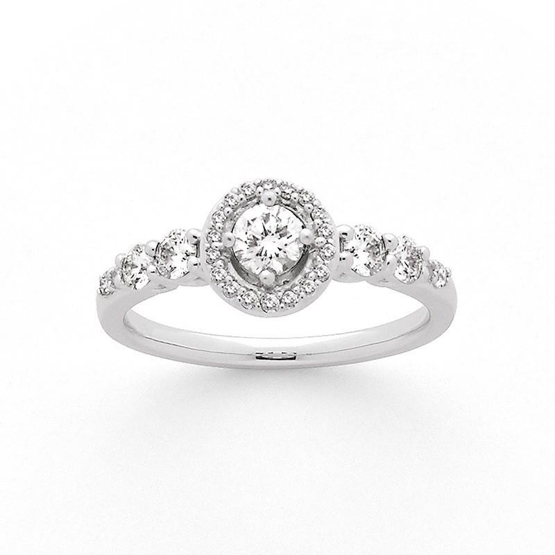 Solitaire Diamant 0,25 Carat H SI 4 griffes accompagné 0,44 Carat Or blanc