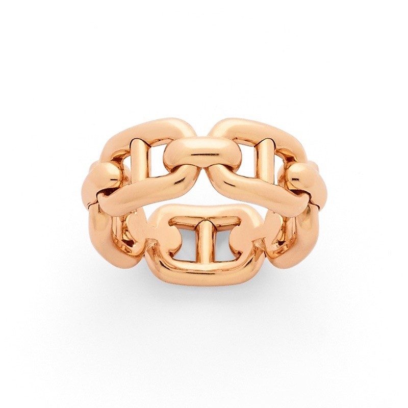 Bague maille marine Or rose