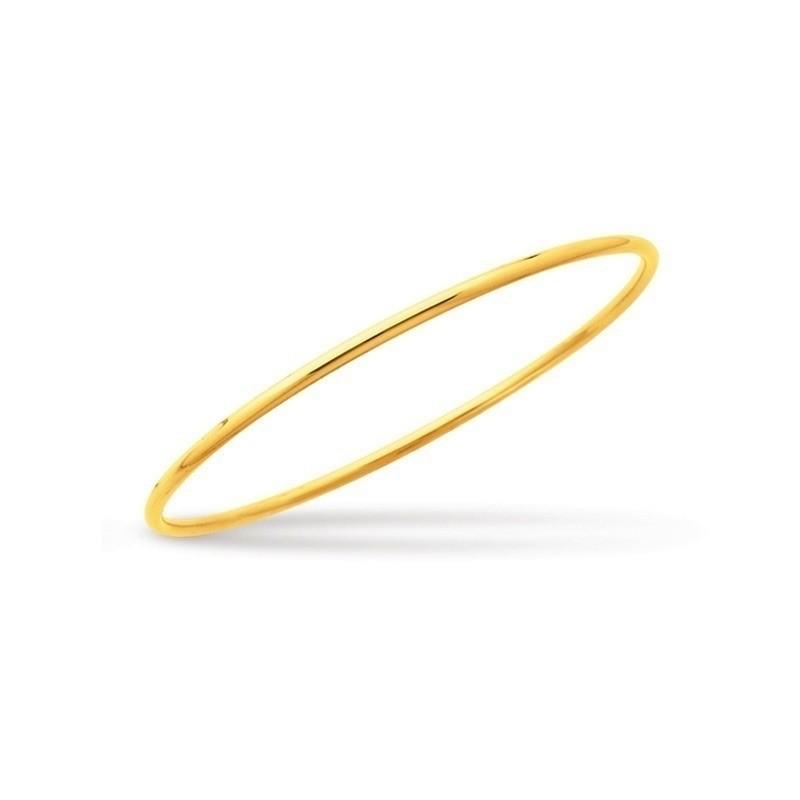 Bracelet rigide fil rond massif forme ronde Or jaune