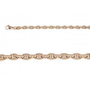 Bracelet maille marine 7mm Or jaune