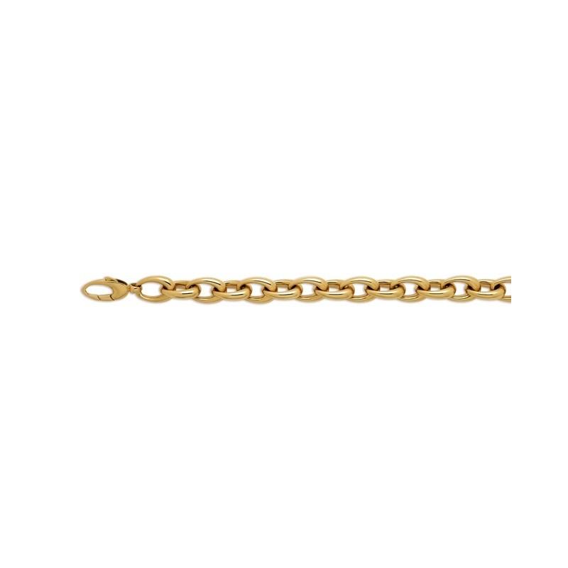Bracelet maille Elliptique 10mm Or jaune