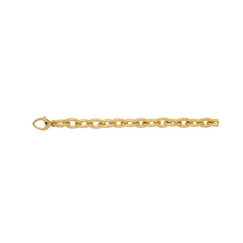 Bracelet mailles ovales 9,5mm Or jaune