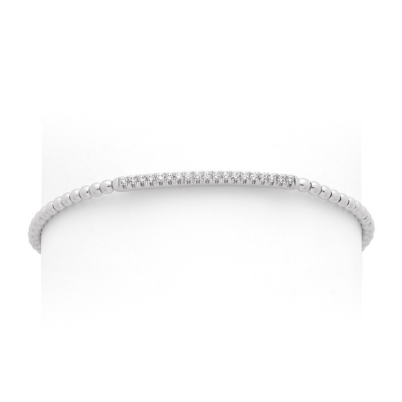 Bracelet joaillerie Diamants 0,275 Carat H SI Or blanc
