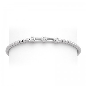 Bracelet joaillerie Diamants 0,15 Carat H SI Or blanc