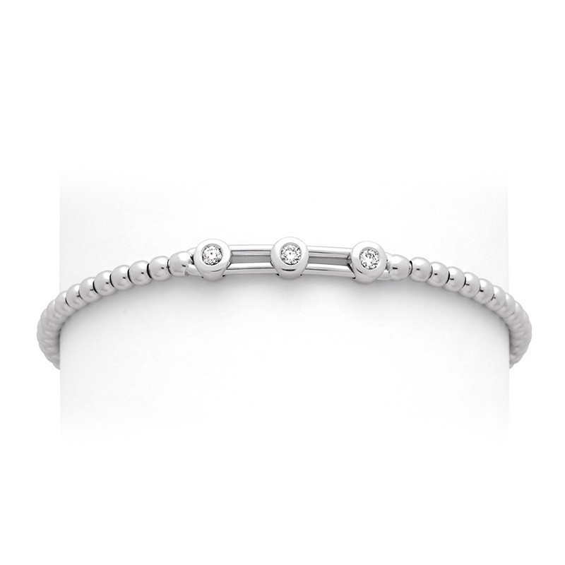 Bracelet joaillerie Diamants 0,15 Carat H SI Or blanc