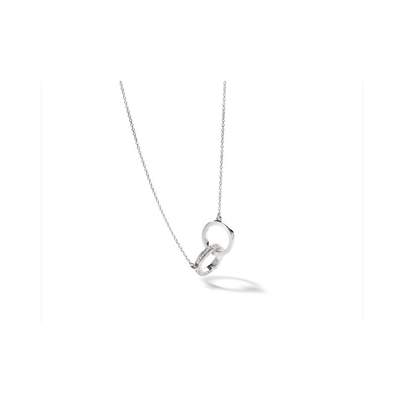 "Collier Diamants 0,36 Carat ""Je te tiens"" Or blanc"