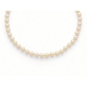 Collier Perles de culture Choker Akoya Japon 8,5-9mm