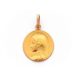 Médaille Vierge Jeune Auréolée 20mm Or jaune