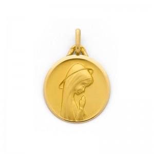 Médaille Vierge en prière 20mm Or jaune