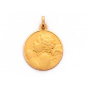 Médaille Ange en prière 16mm Or jaune