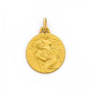 Médaille Saint Christophe 18mm Or jaune