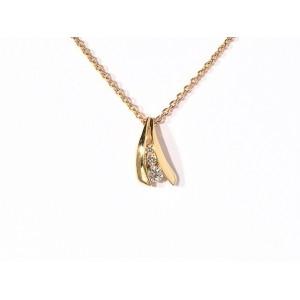 Pendentif Diamants 0,08 Carat G SI trilogie Or jaune